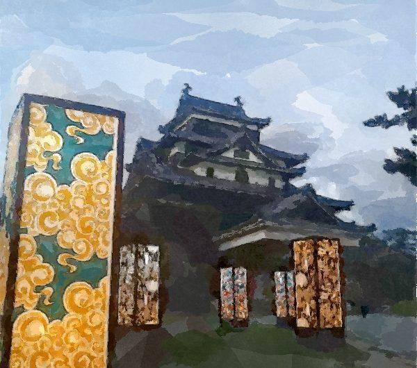 【絵画調変換No081】松江水燈路2017/水彩画