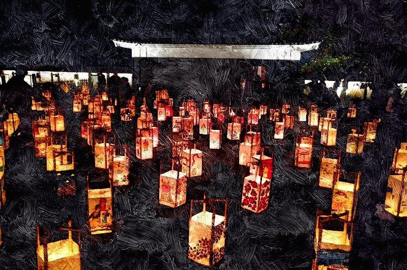 【絵画調No139】松江水燈路2019/油絵画