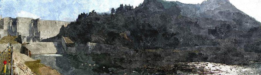 【絵画調変換No030】尾原ダムパノラマ/油絵