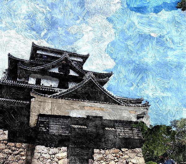 20160902国宝松江城天守/油絵